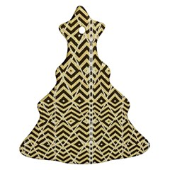 Stripes Glitter And Black Zigzags Ornament (christmas Tree)