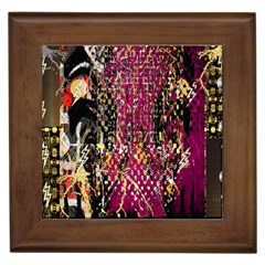 Multi Pattern Purple Gold Silver Lighting Icons Created By Kiekie Strickland  Framed Tiles