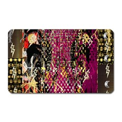 Multi Pattern Purple Gold Silver Lighting Icons Created By Kiekie Strickland  Magnet (rectangular)