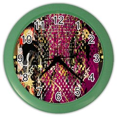 Multi Pattern Purple Gold Silver Lighting Icons Created By Kiekie Strickland  Color Wall Clocks