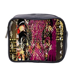 Multi Pattern Purple Gold Silver Lighting Icons Created By Kiekie Strickland  Mini Toiletries Bag 2 Side