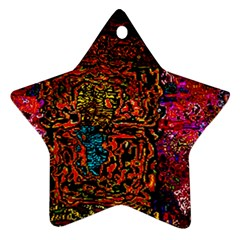 Exotic Water Colors Vibrant  Ornament (star)