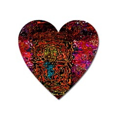 Exotic Water Colors Vibrant  Heart Magnet