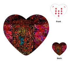 Exotic Water Colors Vibrant  Playing Cards (heart)