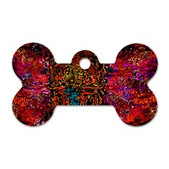 Exotic Water Colors Vibrant  Dog Tag Bone (one Side)