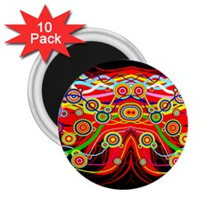 Colorful Artistic Retro Stringy Colorful Design 2 25  Magnets (10 Pack)