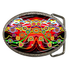 Colorful Artistic Retro Stringy Colorful Design Belt Buckles by flipstylezdes
