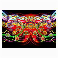 Colorful Artistic Retro Stringy Colorful Design Large Glasses Cloth (2 Side)