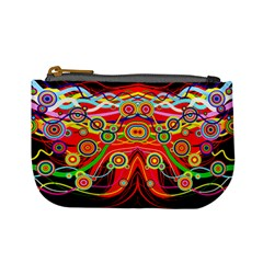 Colorful Artistic Retro Stringy Colorful Design Mini Coin Purses
