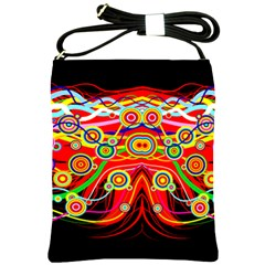 Colorful Artistic Retro Stringy Colorful Design Shoulder Sling Bags by flipstylezdes