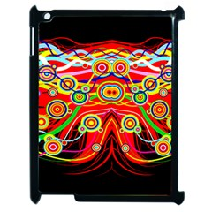 Colorful Artistic Retro Stringy Colorful Design Apple Ipad 2 Case (black) by flipstylezdes