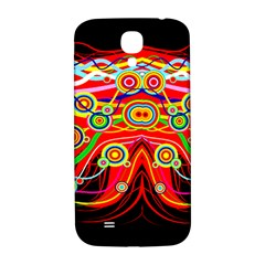 Colorful Artistic Retro Stringy Colorful Design Samsung Galaxy S4 I9500/i9505  Hardshell Back Case by flipstylezdes