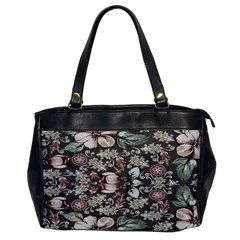 Seamless Pink Green And White Florals Peach Office Handbags