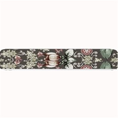 Seamless Pink Green And White Florals Peach Small Bar Mats