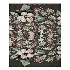 Seamless Pink Green And White Florals Peach Shower Curtain 60  X 72  (medium)