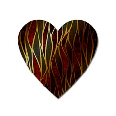 Snake In The Grass Red And Black Seamless Design Heart Magnet
