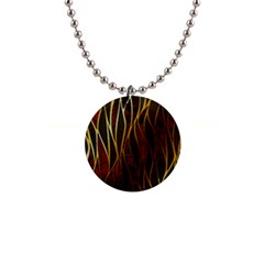 Snake In The Grass Red And Black Seamless Design Button Necklaces by flipstylezdes