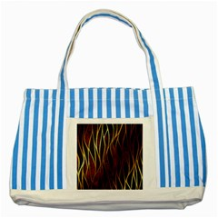 Snake In The Grass Red And Black Seamless Design Striped Blue Tote Bag