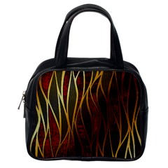 Snake In The Grass Red And Black Seamless Design Classic Handbags (one Side)