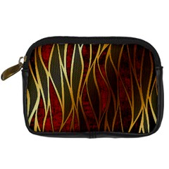 Snake In The Grass Red And Black Seamless Design Digital Camera Cases