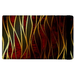 Snake In The Grass Red And Black Seamless Design Apple Ipad Pro 12 9   Flip Case