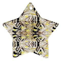 Retro Seamless Black And Gold Design Ornament (star)