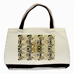 Retro Seamless Black And Gold Design Basic Tote Bag (two Sides)