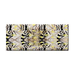 Retro Seamless Black And Gold Design Hand Towel by flipstylezdes