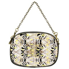 Retro Seamless Black And Gold Design Chain Purses (two Sides)