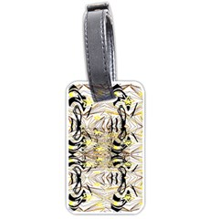 Retro Seamless Black And Gold Design Luggage Tags (two Sides)