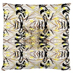 Retro Seamless Black And Gold Design Standard Flano Cushion Case (two Sides) by flipstylezdes