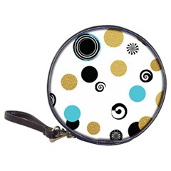 Fun Retro Blue Gold Circles  Classic 20 Cd Wallets by flipstylezdes