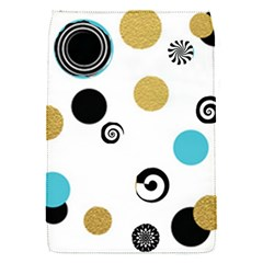 Fun Retro Blue Gold Circles  Flap Covers (s)  by flipstylezdes