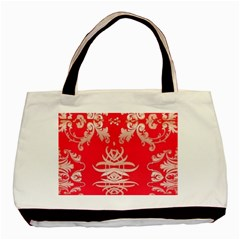 Red Chinese Inspired  Style Design  Basic Tote Bag