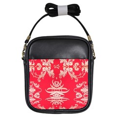 Red Chinese Inspired  Style Design  Girls Sling Bags