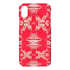 Red Chinese Inspired  Style Design  Apple Iphone X Hardshell Case
