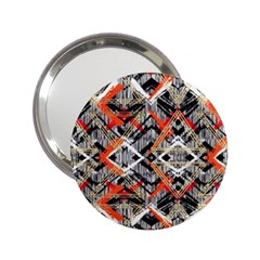 Retro Orange Black And White  2 25  Handbag Mirrors