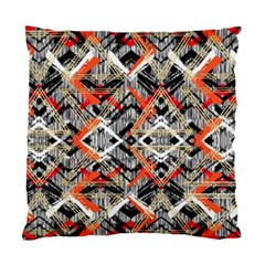 Retro Orange Black And White  Standard Cushion Case (two Sides) by flipstylezdes