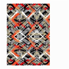 Retro Orange Black And White  Small Garden Flag (two Sides) by flipstylezdes