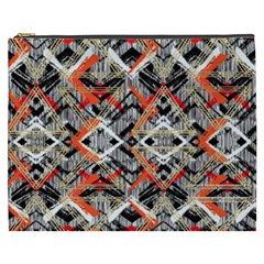 Retro Orange Black And White  Cosmetic Bag (xxxl)