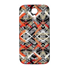 Retro Orange Black And White  Samsung Galaxy S4 I9500/i9505  Hardshell Back Case by flipstylezdes