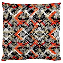 Retro Orange Black And White  Large Flano Cushion Case (one Side) by flipstylezdes