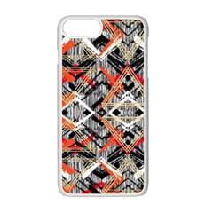 Retro Orange Black And White  Apple Iphone 7 Plus Seamless Case (white)