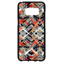 Retro Orange Black And White  Samsung Galaxy S8 Black Seamless Case