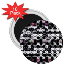 Seamless White And Black Design 2 25  Magnets (10 Pack)