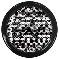 Seamless White And Black Design Wall Clocks (black)