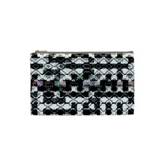 Seamless White And Black Design Cosmetic Bag (small)