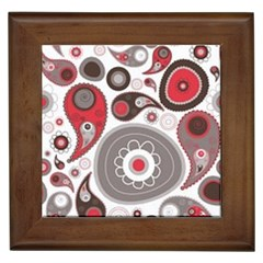 Fun Red And Black Design Framed Tiles by flipstylezdes