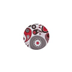 Fun Red And Black Design 1  Mini Buttons