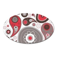 Fun Red And Black Design Oval Magnet